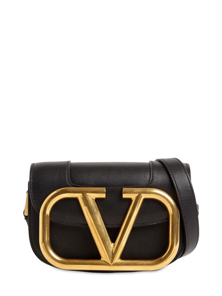 VALENTINO Supervee Sm Leather Shoulder Bag in black