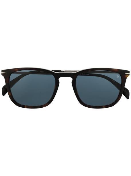 Eyewear by David Beckham tortoiseshell square frame sunglasses in black