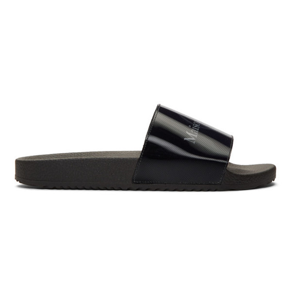 Maison Margiela Black Logo Sandals