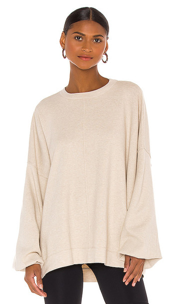 Free People Uptown Pullover in Cream