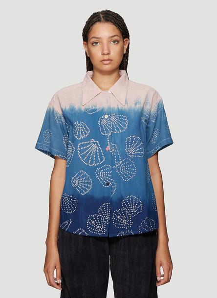STORY mfg. STORY mfg. Shorty Shirt in Blue size S