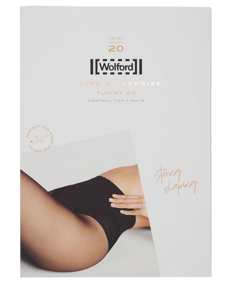 WOLFORD Tummy 20 Denier Control Top Tights in black