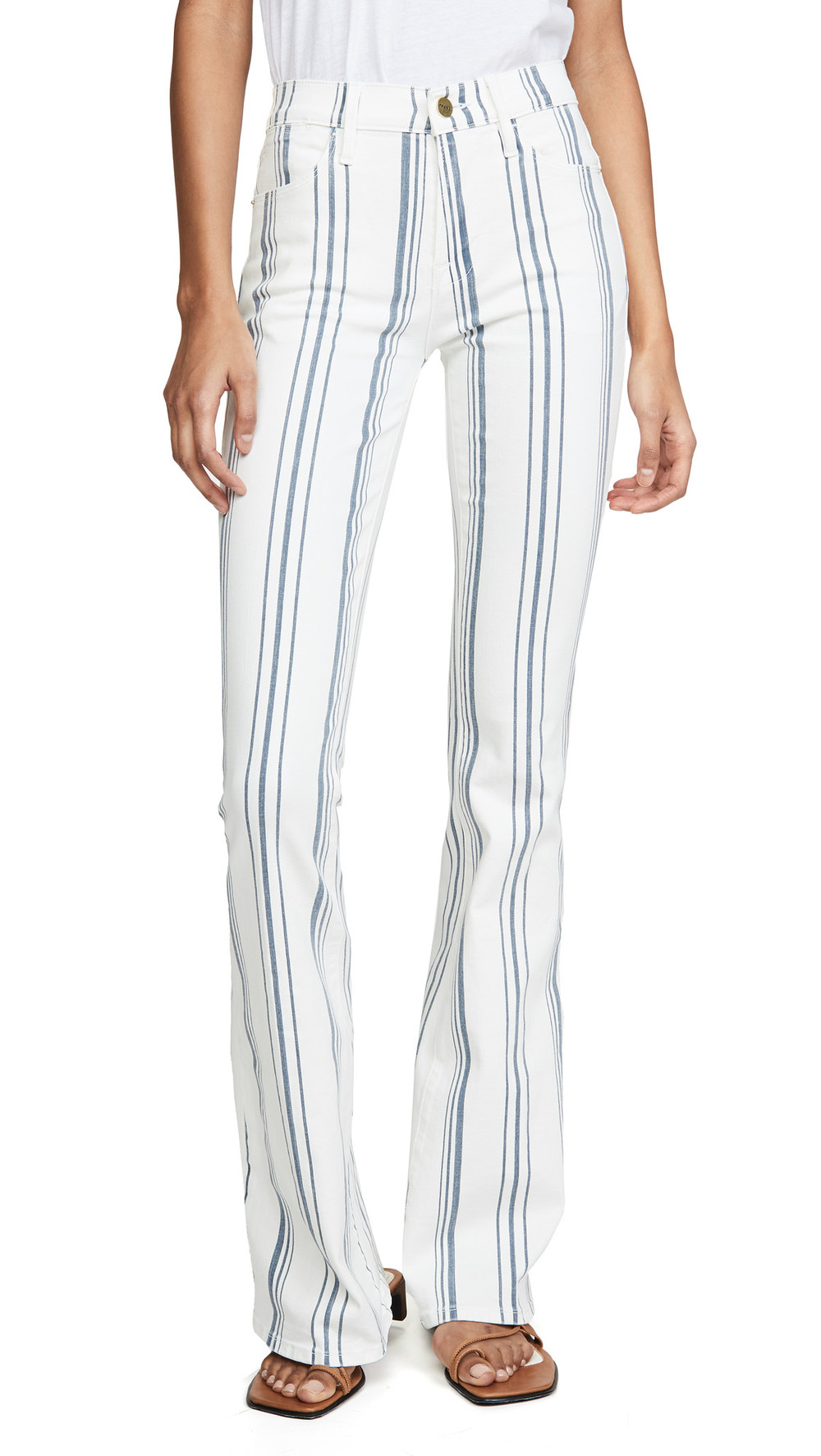 FRAME Le High Flare Jeans in multi
