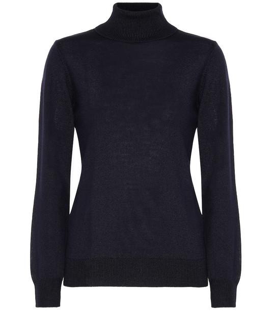 A.P.C. Sandra wool turtleneck sweater in blue