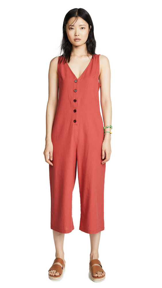 Knot Sisters Riley Jumpsuit in coral