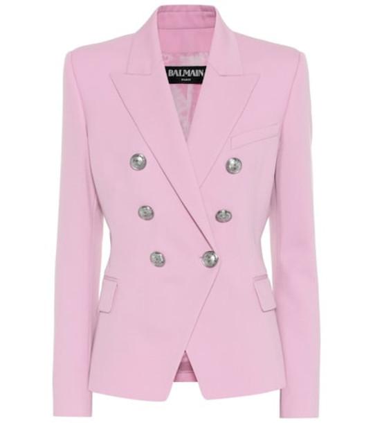 Balmain Virgin wool blazer in pink