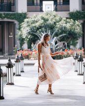 skirt,pleated skirt,midi skirt,floral skirt,white top,crossbody bag,white sandals