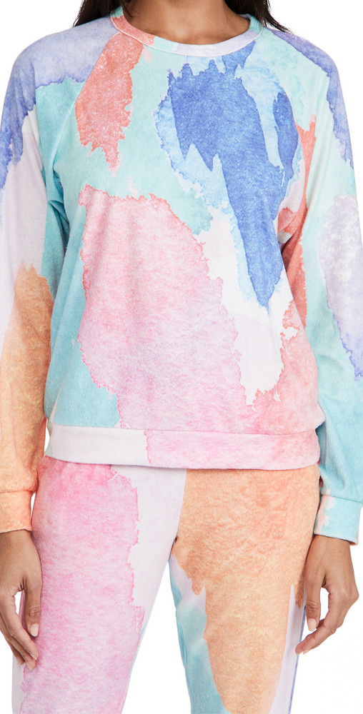 PJ Salvage Art Class Pullover in multi