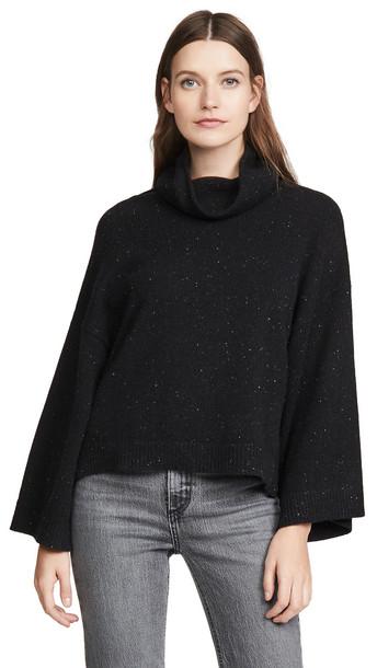 FRAME Cashmere Cowl Swing Sweater in noir / multi