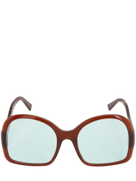 GEORGE KEBURIA Oversize Acetate D-frame Sunglasses in blue