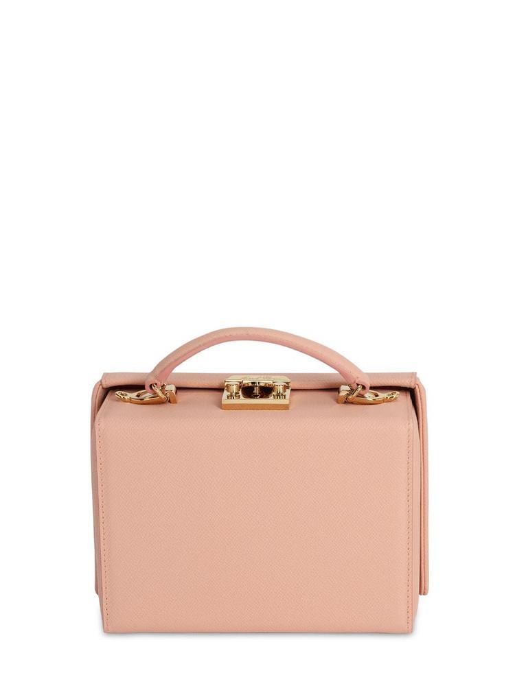 MARK CROSS Small Grace Saffiano Leather Box Bag in blush