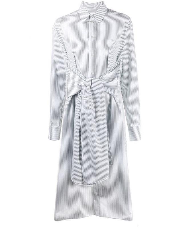 MM6 Maison Margiela tie waist shirt dress in white