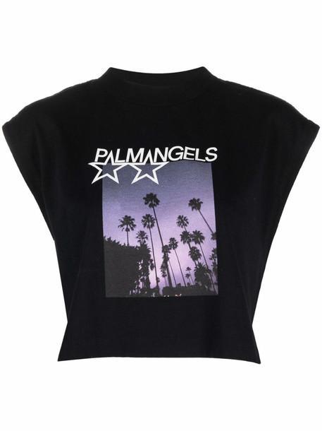 Palm Angels Shooting Stars T-shirt - Black