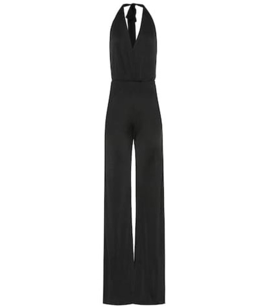 Galvan Mamounia embellished jersey jumpsuit in black