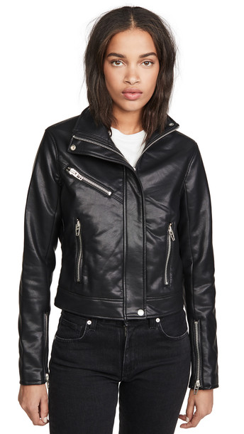 Blank Denim Essentials Moto Jacket in black