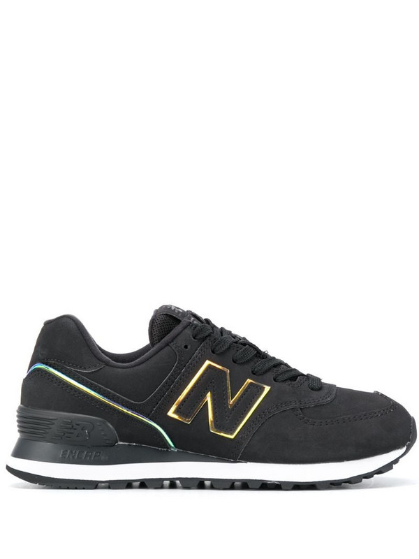 New Balance 574 low-top sneakers in black