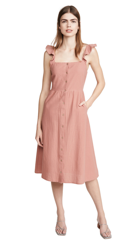Knot Sisters Amelia Dress in rose