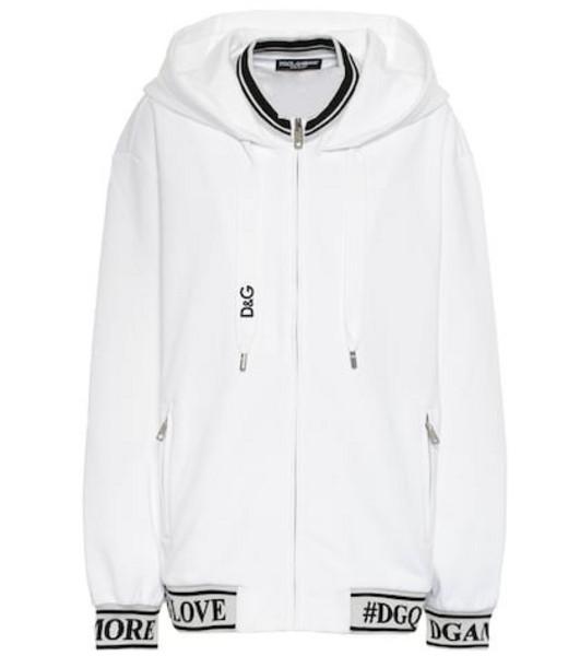 Dolce & Gabbana Logo cotton hoodie in white