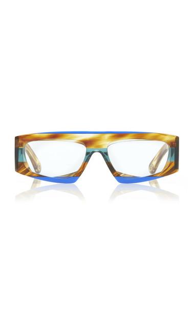 Jacquemus Yauco Square-Frame Acetate Sunglasses in brown