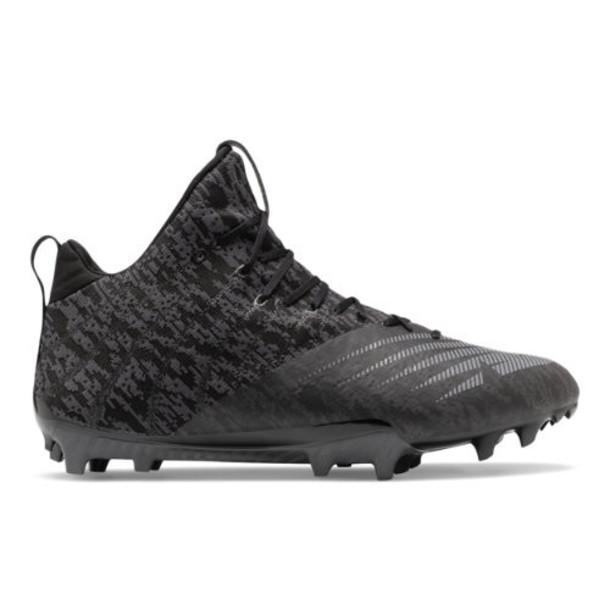 New Balance BurnX2 Mid Men's Lacrosse Shoes - Black/Grey (BURNXMB2)