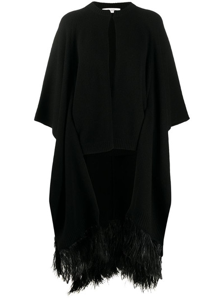 Valentino knitted cardigan cape in black