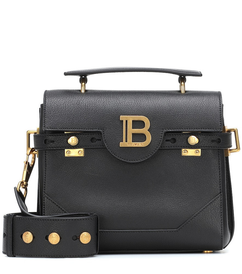 Balmain B-Buzz 23 leather tote in black