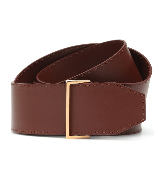 Agnona Leather belt in brown