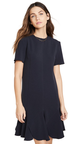 Victoria Victoria Beckham Flounce Hem Shift Dress in blue