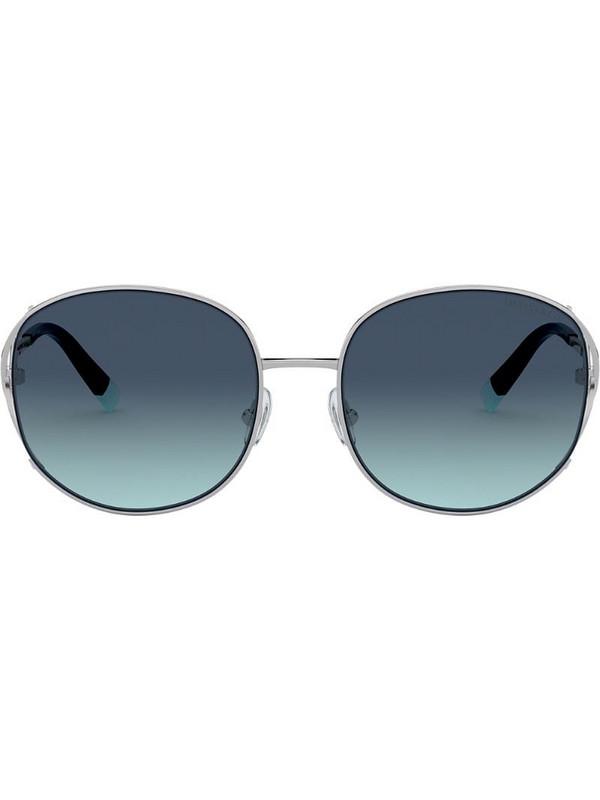 Tiffany & Co Eyewear square oversized sunglasses in silver