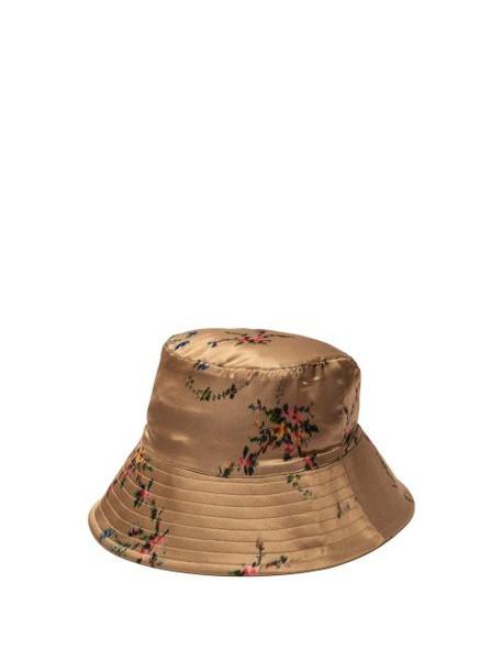 Preen By Thornton Bregazzi - Holly Floral Bucket Hat - Womens - Tan
