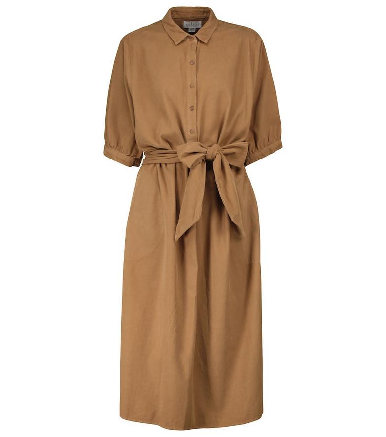Velvet Josie cotton midi dress in brown