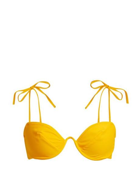 Araks - Myriam Curved Underwire Bikini Top - Womens - Yellow