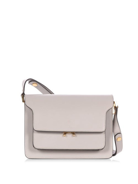 Marni - Trunk Medium Leather Shoulder Bag - Womens - Light Grey