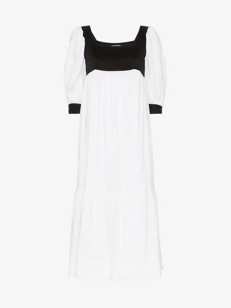 Maryam Nassir Zadeh blouson sleeve empire dress in white