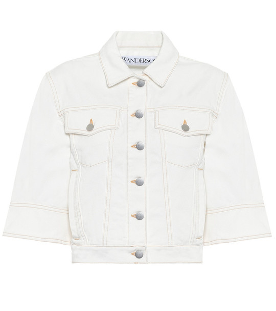JW Anderson Cropped denim jacket in white