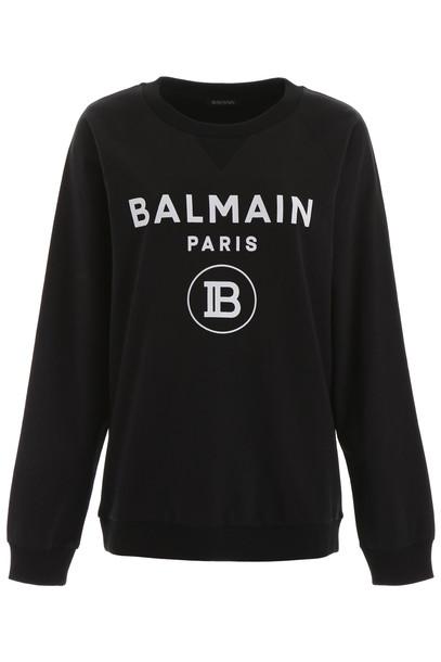 Balmain Logo Sweatshirt in black