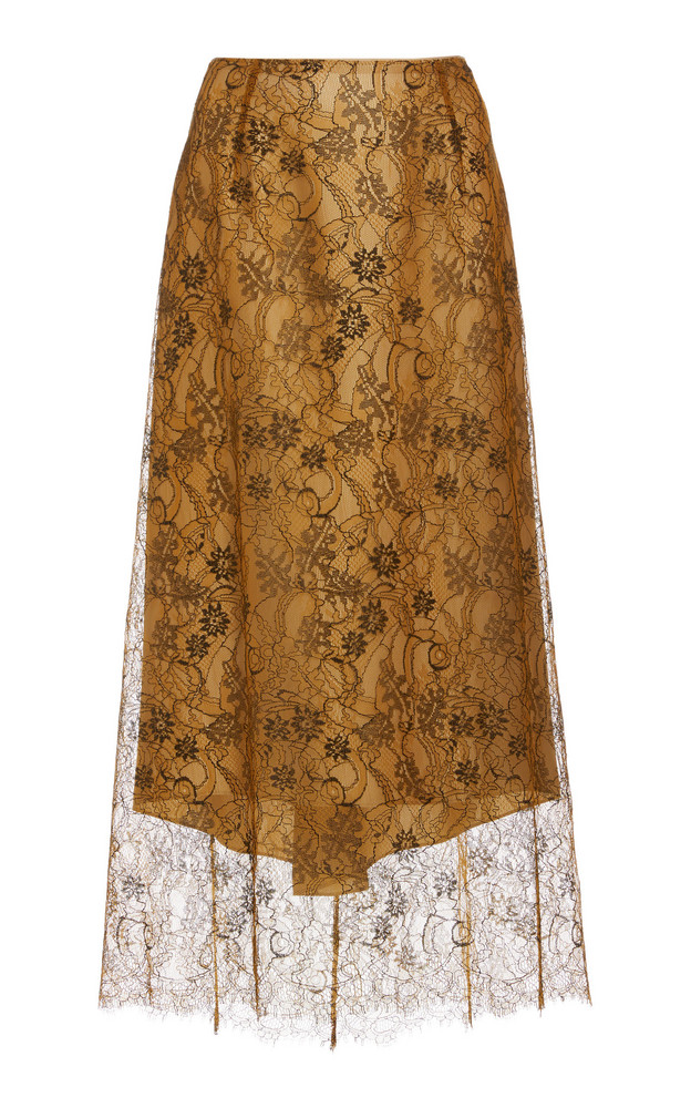 Vince Lace Slip Skirt in brown