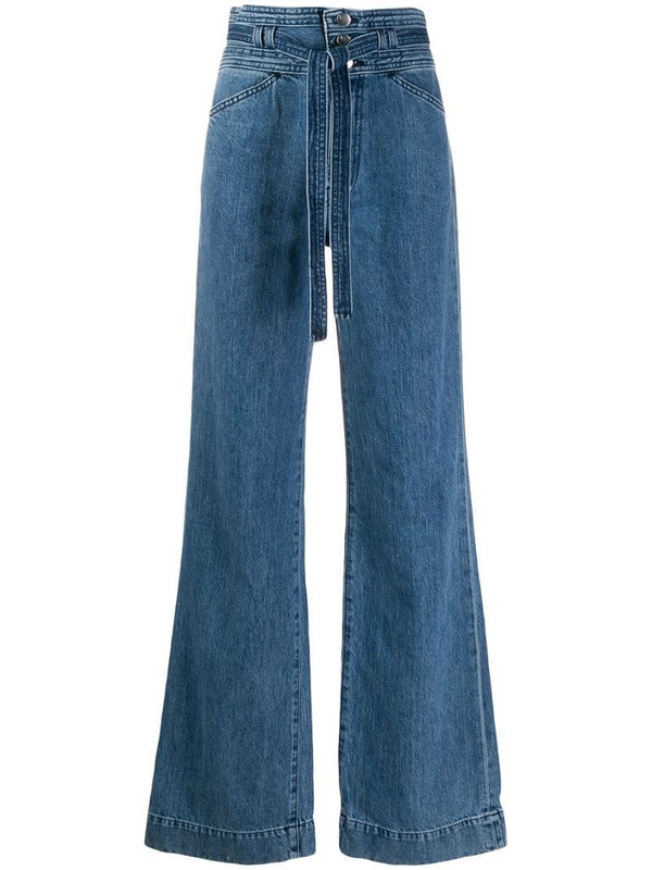 J Brand Sukey High-Rise Wide-Leg Jeans in blue