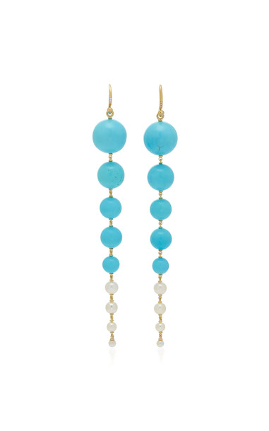 Irene Neuwirth 18K Gold And Turquoise Earrings