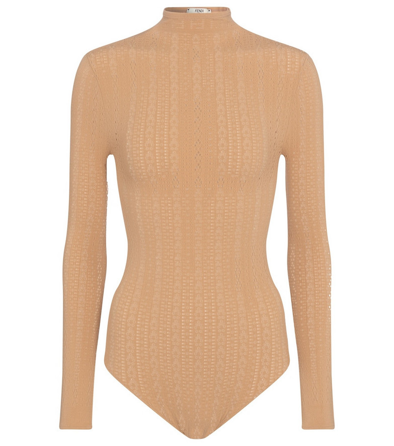 Fendi Lace bodysuit in beige