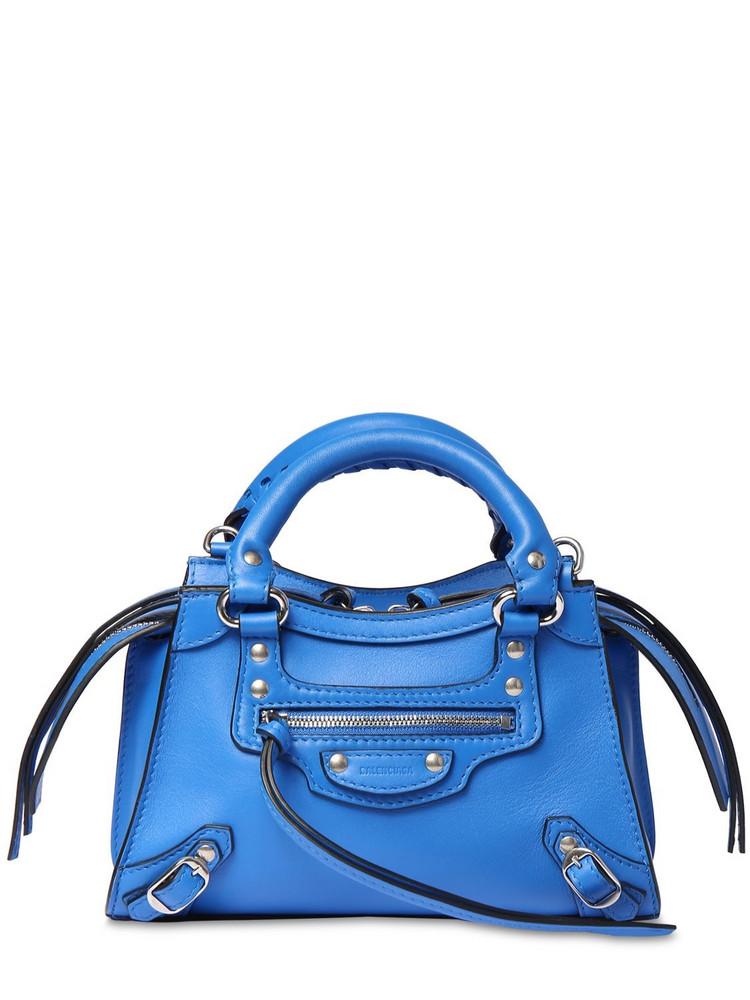 BALENCIAGA Mini Neo Classic City Leather Bag in blue