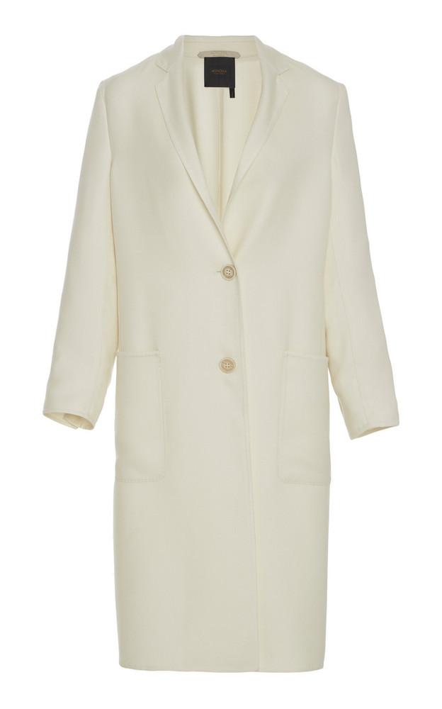 Agnona Eternals Cashmere Silk Overcoat in white