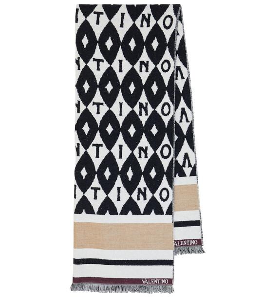 Valentino Jacquard-knit logo scarf