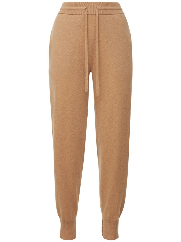 THEORY Cashmere Jogger Pants in beige