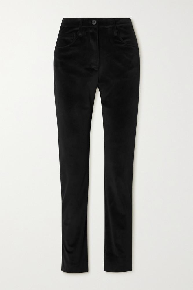 Àcheval Pampa Àcheval Pampa - Gaucho Velvet Slim-leg Pants - Black