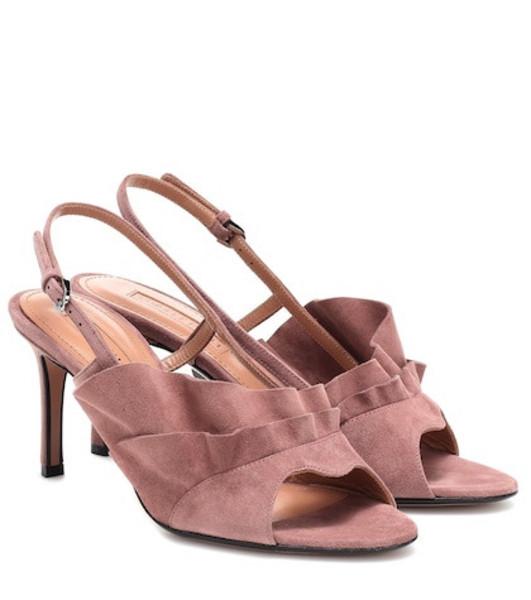 Samuele Failli Chelsie 75 suede sandals in pink