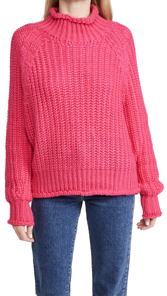 En Saison Chunky Knit Sweater in pink