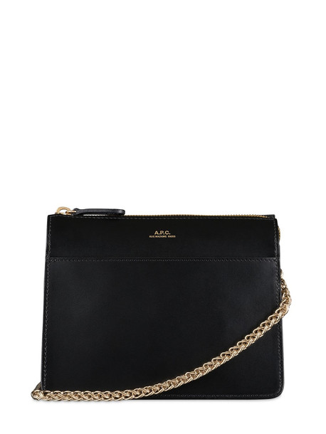 A.P.C. Leather Shoulder Bag in black