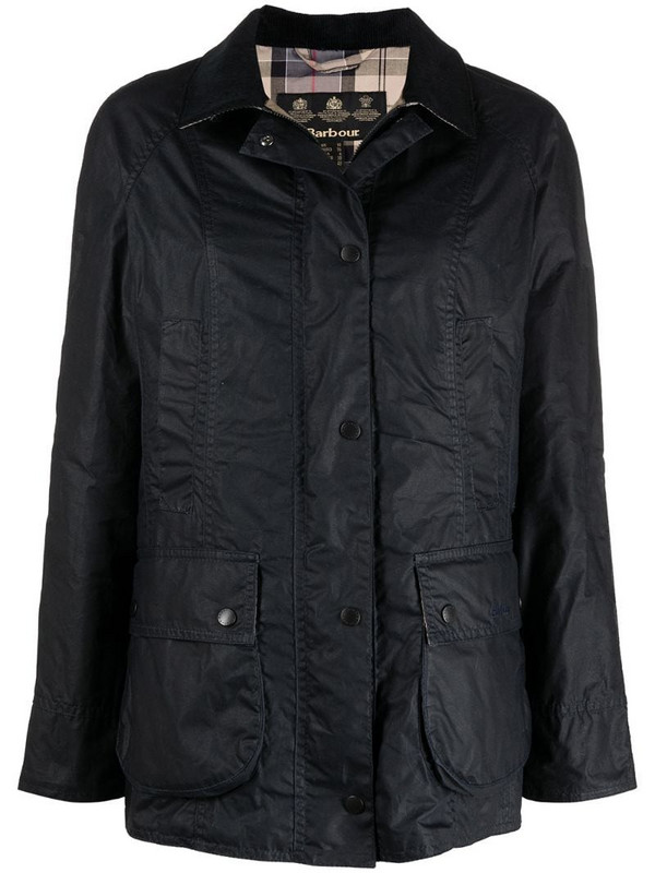 Barbour Beadnell waxed jacket in blue