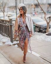 dress,midi dress,snake print,topshop,slit dress,ankle boots,gucci bag,leather jacket
